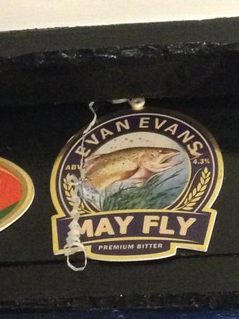 Erwood, UK: Evan Evans on the beams