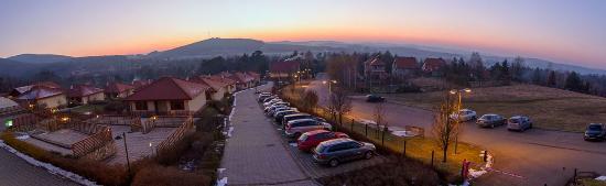 Szalajka Liget Hotel: Bükki panoráma a teraszról