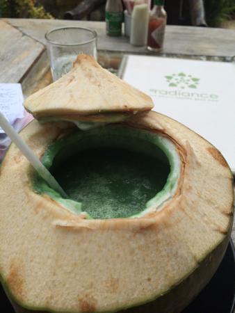 Spa Samui: Spirulina coconut shake