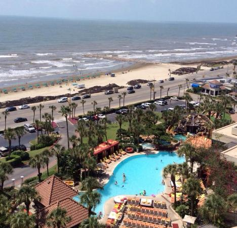 san luis resort room view picture of the san luis resort galveston tripadvisor. Black Bedroom Furniture Sets. Home Design Ideas