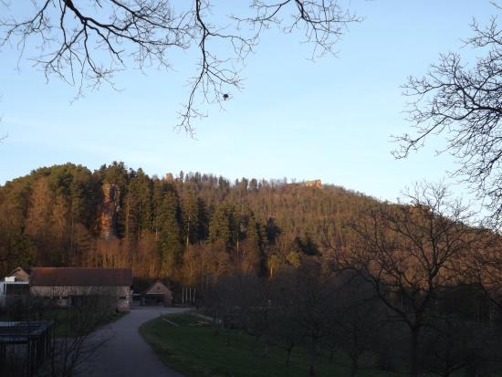 Lembach, ฝรั่งเศส: Auch der Ausblick weg von der Burg ist nicht zu verachten.