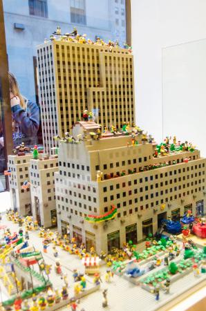 Lego Store window display - Picture of The LEGO Store, New York City ...