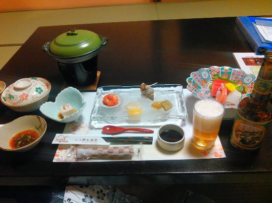 Araki Kosen Ryokan: 夕食