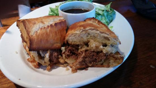 Lou's Grill: Wow i just this amazing Blue Cheese Beef dip a great recommendation from the bartender! I will b
