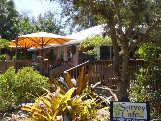 Survey Cafe: Deck at Survy Cafe.