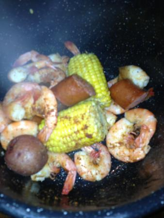 Nellysford, VA: Low Country Boil in a pot