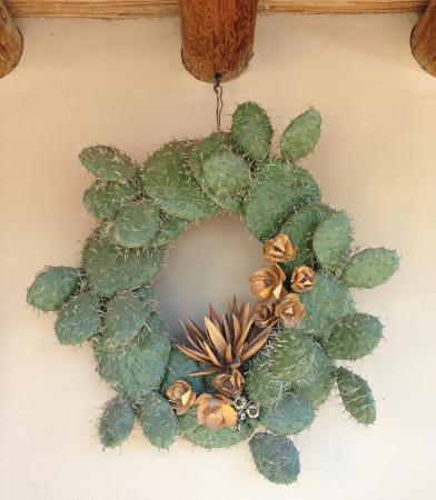 Tanque Verde Ranch: Prickley Pear Christmas wreath. One of the many neat artifacts to gaze upon