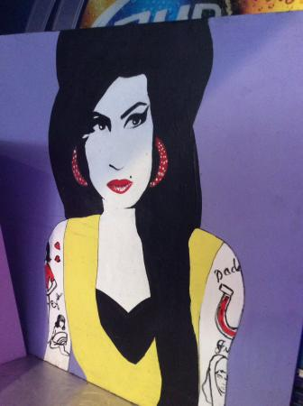 NYPD Bar & Pizza: Painting of Amy