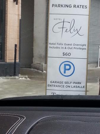 beware 60 bucks night for parking picture of hotel felix rh tripadvisor com