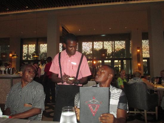 Waiters are glad to be of service.