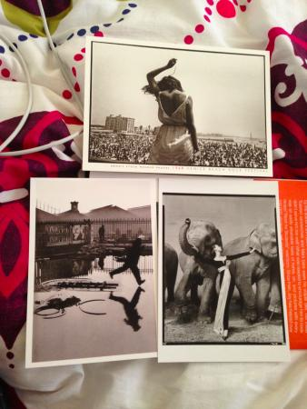 Photographers' Gallery: some postcards bought at photographer's gallery bookshop