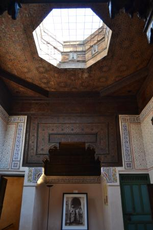 Musee de Mouassine: the ceiling of riad
