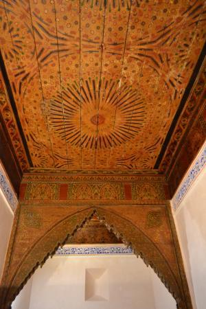Musee de Mouassine: wooden ceiling