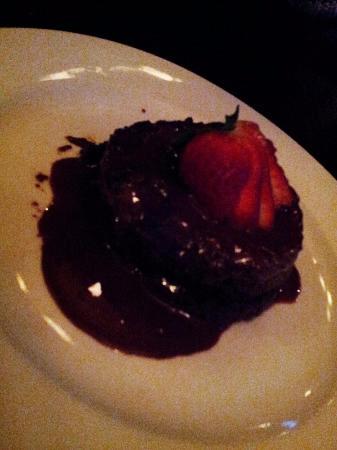 Cafe Bleu: Flourless chocolate ganache cake
