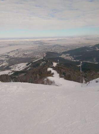 Гора Церковка: Вид с вершины. Внизу - город Белокуриха.