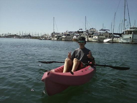 Channel Islands Harbor: Ryan kayaking