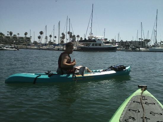 Channel Islands Harbor: Danial kayaking