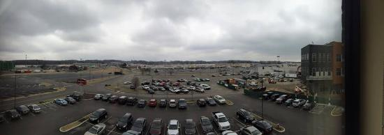 Niles, OH: Panorama of one of the shopping plazas from Residence Inn