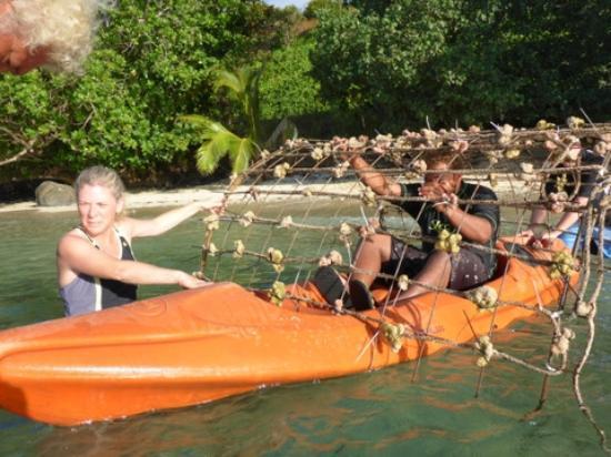 Makaira Resort: Reef being taken out by kayak