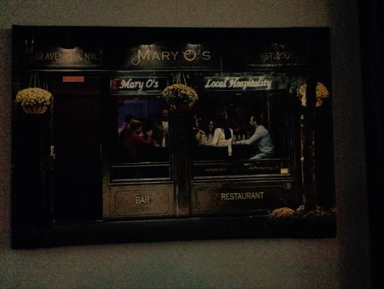 Mary O's: Sign out front.