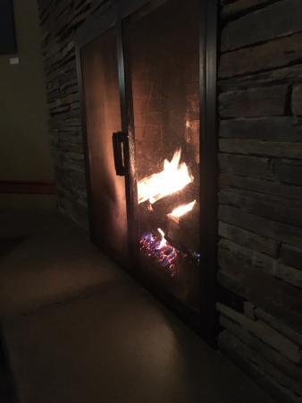 Brentwood Pub: Our table by the fireplace