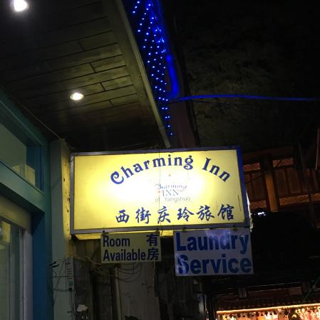 Charming Inn: It said available that night.