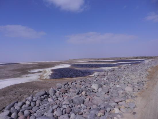 Laguna San Ignacio: Le saline prima di arrivare alla laguna