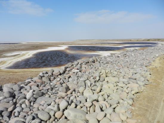 Laguna San Ignacio: La saline prima di arrivare alla laguna