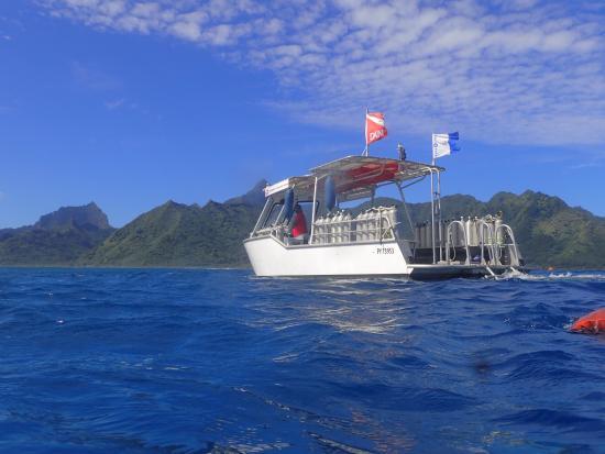 Moorea, Polinésia Francesa: Our vessel, the intrepid Raira