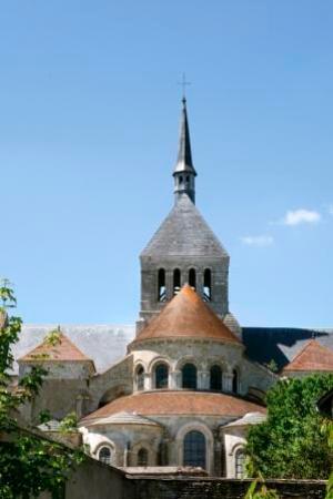 Saint-Benoit-sur-Loire, Francja: chevet abbaye de St Benoît-sur-Loire