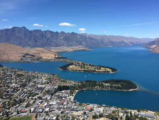 View of Queenstown from the top