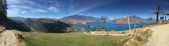 Panorama of Queenstown from the top