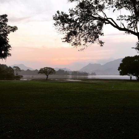 Amaya Lake: sunrise by lake