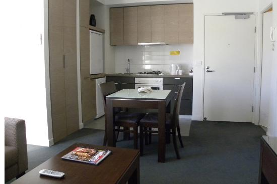 Apartments Ink: Dining room and kitchenette.