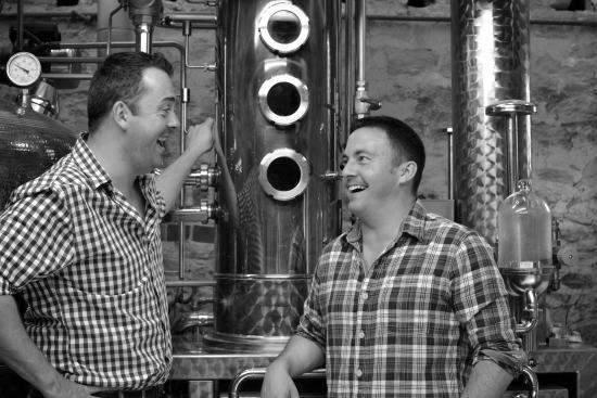 Harrington, UK: Tom Warner and Sion Edwards, Founders of Warner Edwards Distillery