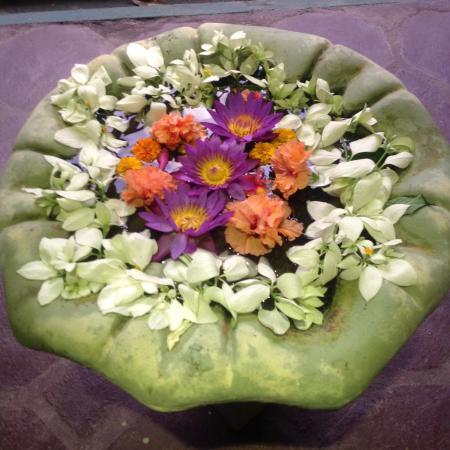 Shanthi Lanka Ayurveda Resort : Blütenmandala
