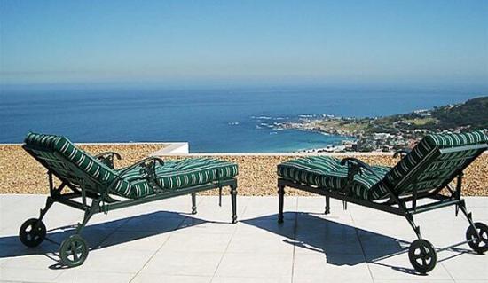 Beach ocean and mountain views from Camps Bay Villa, building, interiors