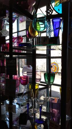 coloured wine glasses that i couldn t resist picture of exmoor rh tripadvisor co uk