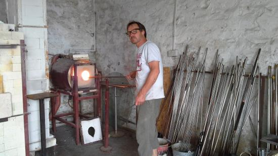 Porlock Weir, UK: Their Master Glass maker James
