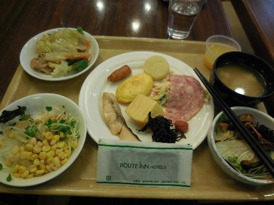 Hotel Route Inn Tokuyama Ekimae : 朝食。美味しかったです。