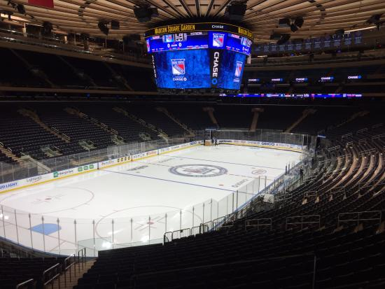 Msg Set Up For Rangers Hockey Picture Of Madison Square