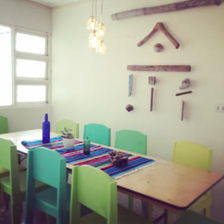 Hostel Urbano: our dinning table