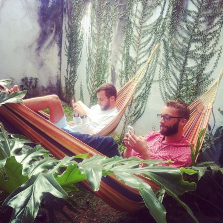 Hostel Urbano: nothing like chilling in our hammocks