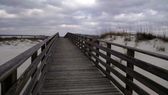 Boardwalk Nature Trail Across Beach Picture Of Alabama