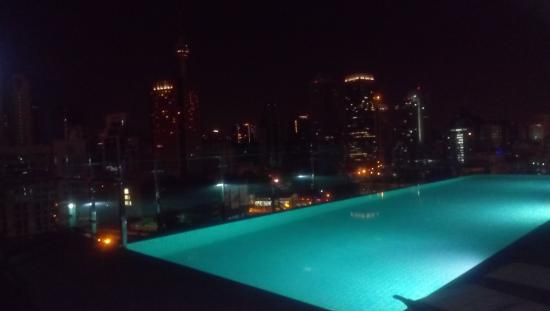 Rooftop swimming pool with beautiful view of kl skyline - Best hotel swimming pool in kuala lumpur ...