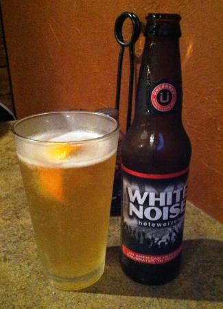 Bullman's Pizza of Billings: local brew Uber Brew - White Noise