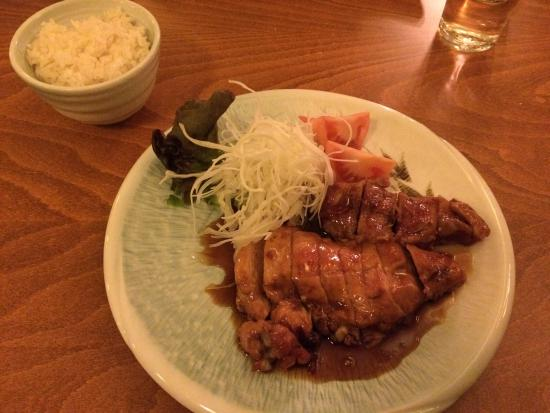 "Toriteriyaki chicken and ""bulgogi"" beef."