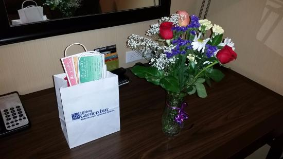 Elegant Hilton Garden Inn Watertown/Thousand Islands: Our Welcome Flowers And  Voucher Gift Bag Home Design Ideas