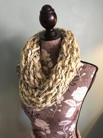 Super Chunky Abstract Double Wrap Infinity Scarf For Spring Spring