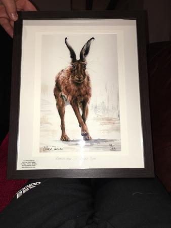 Kniveton, UK: Had a lovely meal and bought one of these lovely limited addition print.
